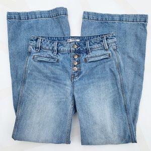 Free People Avendal Jeans Wide Flare Leg Light 25